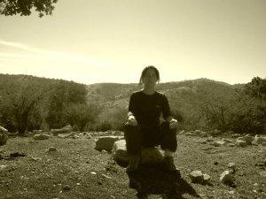 Daniela meditando